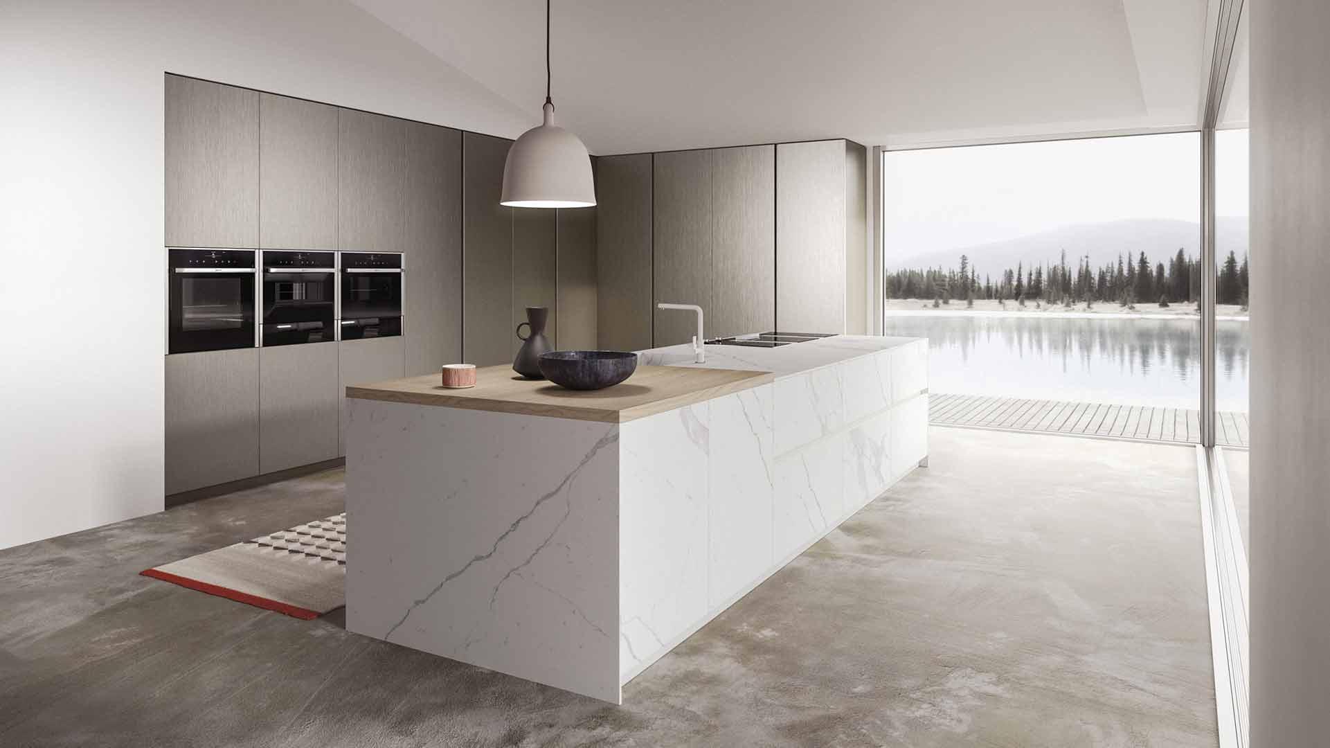 Cucina Statuario & Metalescente